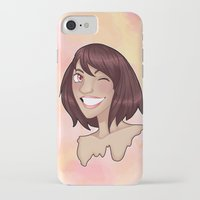 risa rodil iPhone & iPod Cases featuring Risa by Laura Monaghan Illustration
