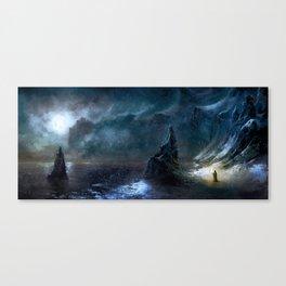 Iced Coast Canvas Print