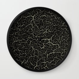 Black Crackle Wall Clock