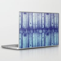 library Laptop & iPad Skins featuring Vintage library by Maureen Mitchell