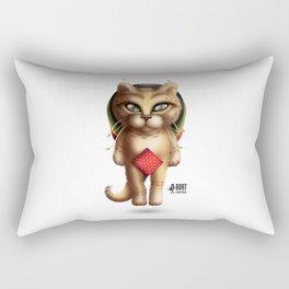 Rastaman Cat Rectangular Pillow