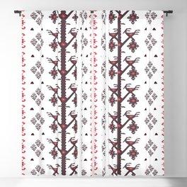 Tribal Ethnic Love Birds Kilim Rug Pattern Blackout Curtain