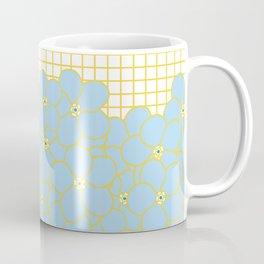 Forget Me Knot Gold Grid Coffee Mug