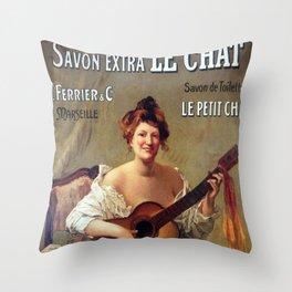 Le Savon. Vintage French Poster Throw Pillow
