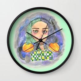Saturn Girl Wall Clock