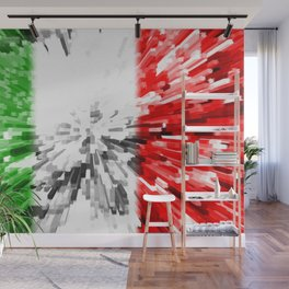 Extruded Flag of Italy Wall Mural