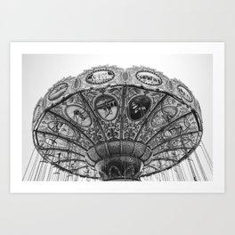 Swing Carousel Art Print