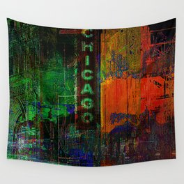 A night in Chicago Wall Tapestry