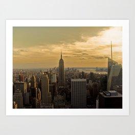 Sunset in New York Art Print