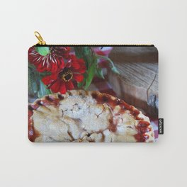 Cherry Pie with Red Flowers Carry-All Pouch