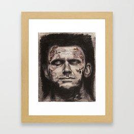 Deliver Us From Evil Framed Art Print