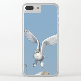 Her wings are my prayer Clear iPhone Case