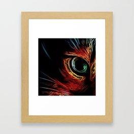 Neon Cat Eye Framed Art Print