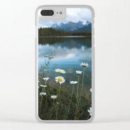 Banff Flowers Clear iPhone Case