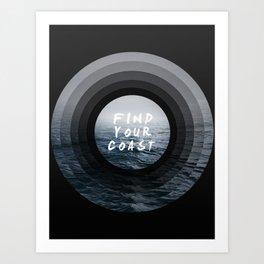 Find Your Coast Art Print