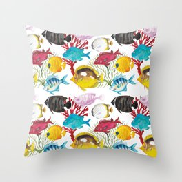 Coral Reef #1 Throw Pillow