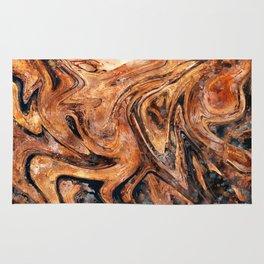 Brown marble watercolor Rug
