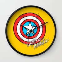 shield Wall Clocks featuring Shield by Chelsea Herrick