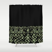 tigers Shower Curtains featuring Tigers by Camille Hermant