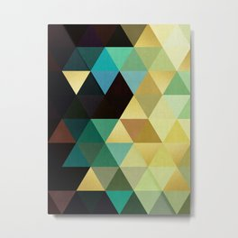 Triangles and gold III Metal Print