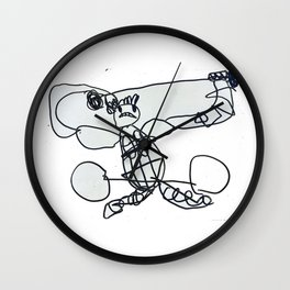 Vertical Weight Lifter Wall Clock
