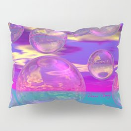 Tropical Morning – Abstract Magenta and Turquoise Paradise Pillow Sham