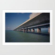 Seven Mile Bridge, Florida Keys Art Print