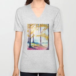 Into The Forest VI Unisex V-Neck