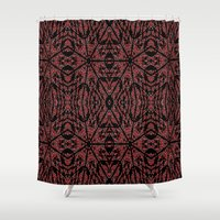 gothic Shower Curtains featuring GOTHIC by 2sweet4words Designs