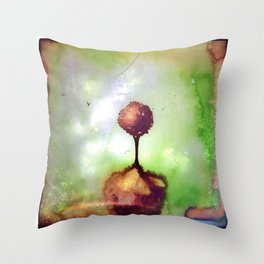 Little lost tree Throw Pillow