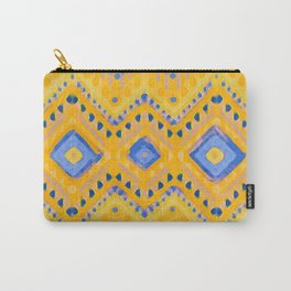 itzel - pineapple + azure Carry-All Pouch