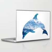 dolphin Laptop & iPad Skins featuring Dolphin by Inna Trifonova