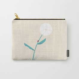 Flower and the ladybug Carry-All Pouch