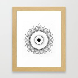 The Scaly Watcher Framed Art Print
