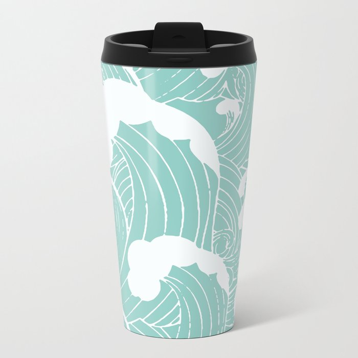 Refreshing waves Travel Mug