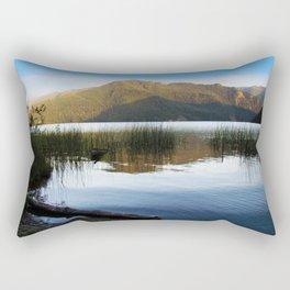 Lake Crescent I Rectangular Pillow