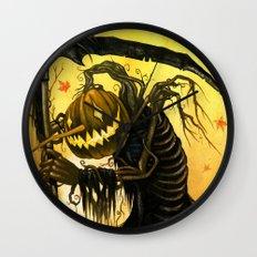 Autumn Harvester Wall Clock