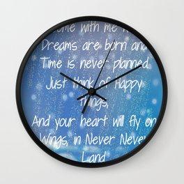 Peter Pan Quote Wall Clock