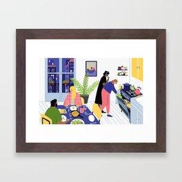 Dinner Party Framed Art Print