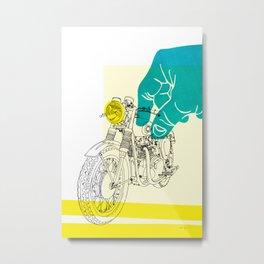 Vintage BSA Super Rocket Motorcycle Art Print Metal Print