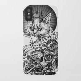 Satan cat iPhone Case
