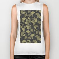 marble Biker Tanks featuring Marble by Molly Smisko