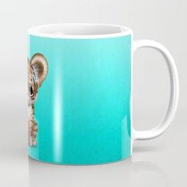 Tiger Cub Playing With Basketball Coffee Mug