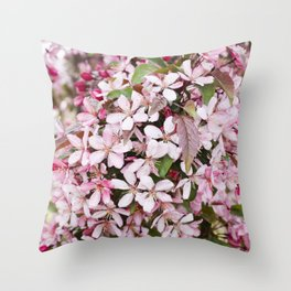 Apricot blossoms Throw Pillow