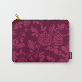 Red Rose Pattern Carry-All Pouch