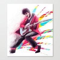 darren criss Canvas Prints featuring Listen Up Darren Criss by Ines92