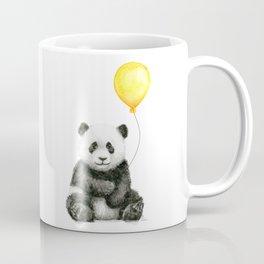 Panda Watercolor Animal with Yellow Balloon Nursery Baby Animals Coffee Mug