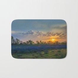 Daybreak In The Land Of Bluebonnets Bath Mat