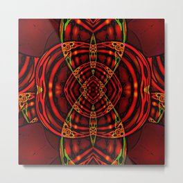 Red Maniac Metal Print