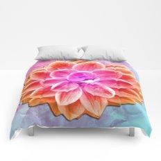 abstract dahlia  Comforters